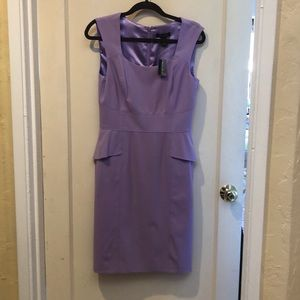 WHBM   NWT Fitted Lined Peplum Dress lavender